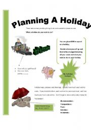 English Worksheets: Planning a holiday