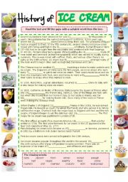History of ICE CREAM