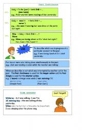 English worksheet: Mind Map- Past Continuous