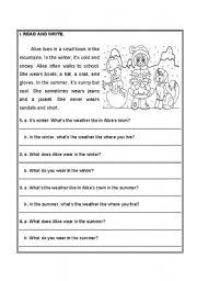 Reading comprehension - ESL worksheet by Cristalicious