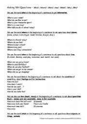 English Worksheets: w/ questions