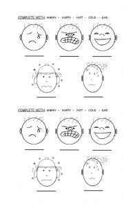 Worksheet Feelings And Emotions Worksheets Pdf english teaching worksheets feelings s complete