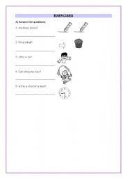 English worksheet: Children exercises - part 1