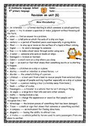 English Worksheets: revision on unit 6 macmillan  5