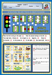 English Worksheets: GIVING DIRECTIONS