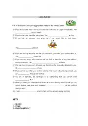 English Worksheets: Ways of looking