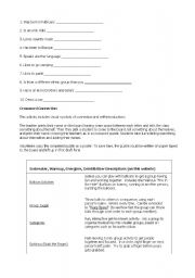 English Worksheet: icebreakers