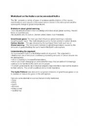 English Worksheet: an inconvenient truth, the trailer