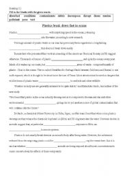 English Worksheets: Reading_fill in the blanks