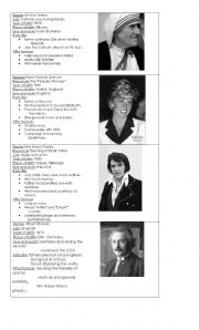 English Worksheet: Famous people biographies
