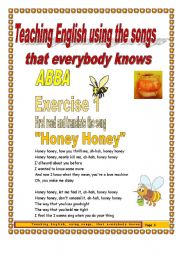 English Worksheet: 5 pages/3 exercises Teaching English Using Famous Songs ABBA