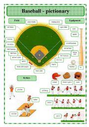 baseball pictionary esl worksheet by oppilif. Black Bedroom Furniture Sets. Home Design Ideas