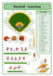 BASEBALL -MATCHING EXERCISE