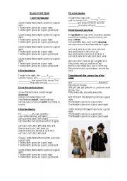 English Worksheets: Music Activity: Black Eyed Peas - I Gotta Feeling