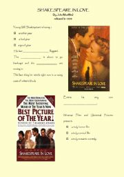 English Worksheets: SHAKESPEARE IN LOVE - MOVIE TRAILER