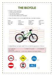 English teaching worksheets: The bicycle