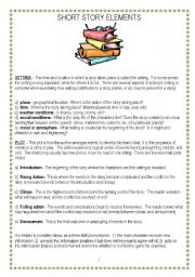 Worksheet Story Elements Worksheets english worksheet short story elements