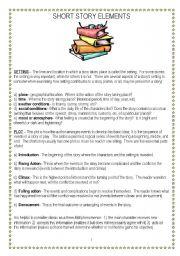 English Worksheet: Short story elements