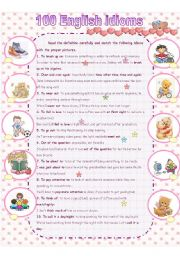 100 Essential idioms part1