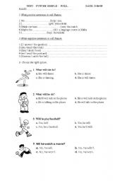 English Worksheets: when i grow up...