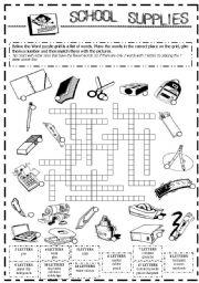 SCHOOL SUPPLIES - English ESL Worksheets for distance ... |Esl Classroom Supplies
