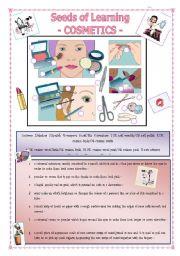 English Worksheet: Seeds of Learning - Cosmetics -