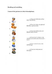 English worksheet: Reading and matching