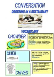 English worksheet: Ordering in a restaurant