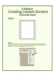 English Worksheets: Custom Border Tutorial