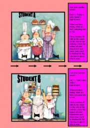 English Worksheets:  Speaking activity _ Student A-B  DESCRIBING AND GUESSING