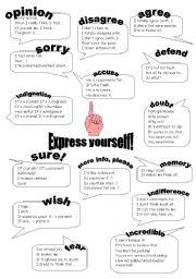 English Worksheet: Express yourself!