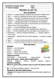 English Worksheets: unit 1 for macmillan  3