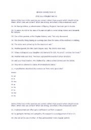English Worksheet: error correction tests for proficiency exams with answers