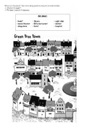 places in town worksheet pdf