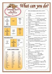 English Worksheet: Grammarville 3 - Can / Can´t