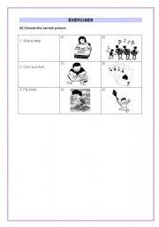 English worksheet: Children exercises - part 2