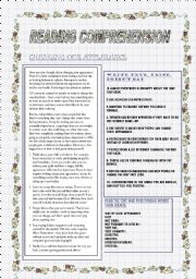 English Worksheets: CHANGING OUR APPEARANCE