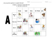 English Worksheets: revision A