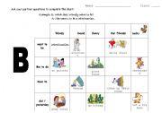 English Worksheets: revision  B
