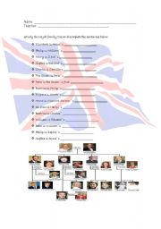 English Worksheet: The Royal family activity