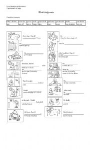 English Worksheet: Daily Routines verbs