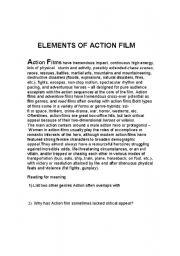 English Worksheets: worksheet on action genre