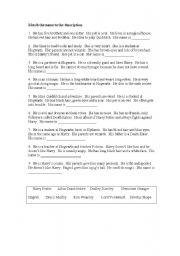 English worksheet: Harry Potter Description +
