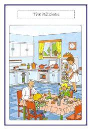 English Worksheet: kitchen voc list
