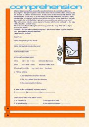 English Worksheets: the boy who broke the window