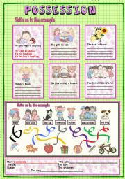 English Worksheets: Possession