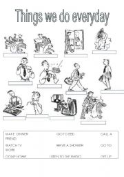 English Worksheets: THINGS WE DO EVERYDAY