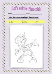 Let´s colour Pinocchio!