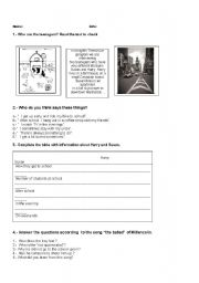 English worksheet: listening living in the city and in a farm