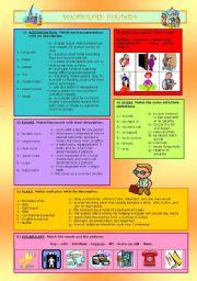 English Worksheets: VOCABULARY: HOLIDAYS